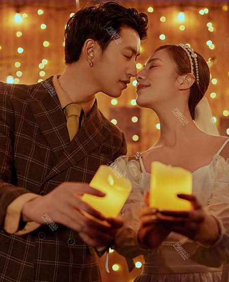 烛光夜景婚纱照-玛雅婚纱摄影