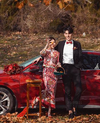 玛雅摄影 新年华服系列<br /> 在新年佳节前夕,何不拍套中式華服<br /> 你要的红